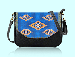 Mlavi Morocco collection cross body/clutch bags with original, beautiful Moroccan-themed prints for wholesale and online shopping