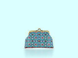 Mlavi Morocco collection coin purses with original, beautiful Moroccan-themed prints for wholesale and online shopping