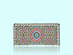 Mlavi Morocco collection flat wallets with original, beautiful Moroccan-themed prints for wholesale and online shopping