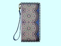 Mlavi Morocco collection large wristlet wallets with original, beautiful Moroccan-themed prints for wholesale and online shopping