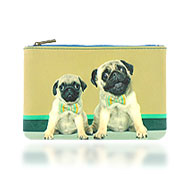 Mlavi Animal collection wholesale fashion small pouches, medium flat pouches and makeup pouches with  Animal illustration prints to gift shop, clothing & fashion accessories boutique, book store, souvenir shops worldwide.