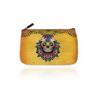 Mlavi Cat collection wholesale fashion small pouches, medium flat pouches and makeup pouches with  tattoo prints to gift shop, clothing & fashion accessories boutique, book store, souvenir shops worldwide.
